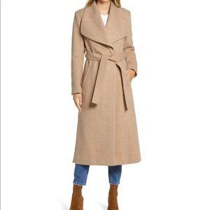 Tan wrap coat